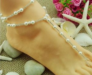 Jewelry - Style Beach Imitation Pearl jewelry Toe Chain Link